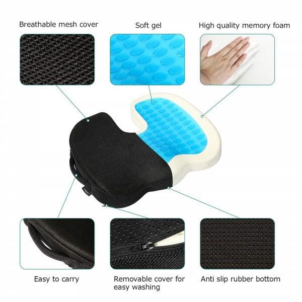 Gel Memory Foam Seat Cushion detail 2